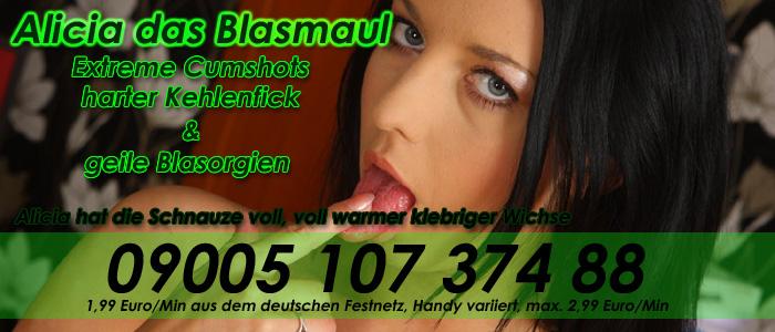 6 Blasmaul Alicia - Spritzige Telefonsex Cumshots