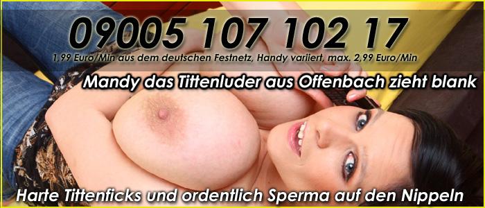 1 Titten Telefonsex mit Mandy - Spritz die Euter voll
